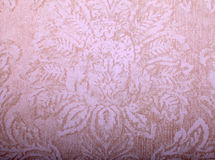 Vintage beige wallpaper with victorian pattern Stock Photography