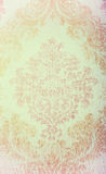 Vintage beige wallpaper with vignette victorian pattern Stock Photography