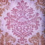 Vintage beige wallpaper with vignette victorian pattern Royalty Free Stock Photography