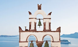 Vintage belfry in Oia, Santorini, Greece Stock Photo