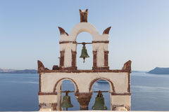 Vintage belfry in Oia, Santorini Royalty Free Stock Photos
