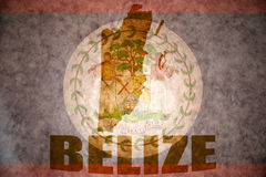 Vintage belize map Royalty Free Stock Images
