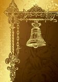 Vintage Bell. Illustration of Abstract Vintage Bell Royalty Free Stock Photography