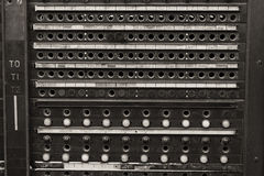 Vintage Bell System Telephone Switchboard Stock Photos