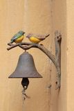 Vintage bell is two birds, vintage style. Vintage bell is two birds, vintage style Stock Image