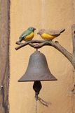 Vintage bell is two birds, vintage style. Vintage bell is two birds, vintage style Royalty Free Stock Photography