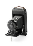 Vintage bellows photo camera Stock Images