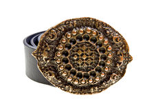 Vintage belt isolated on the white Royalty Free Stock Photos