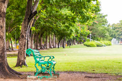 Vintage bench in the park Stock Photo