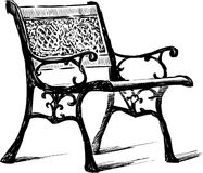 Vintage bench. Vector drawing of an old bench Stock Photos