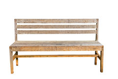 Vintage bench in white background Royalty Free Stock Images