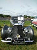Vintage Bentley car showing outdoor. Vintage car Bentley show outdoor at Northumberland Wings & Wheels festival at Eshott Airfield north of Morpeth, England stock photo