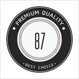 Vintage 87 Best Choice Vector Image Royalty Free Stock Photos