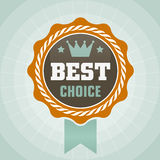 Vintage best choise label. Icon Royalty Free Stock Photos