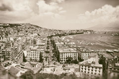 Vintage best view of the gulf of Naples Stock Photos