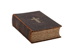 Vintage bible book on white Stock Image