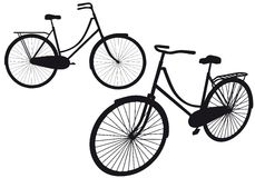 Vintage bicycle,. Vintage bicycle silhouettes, illustration royalty free illustration