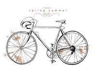 Vintage bicycle. Vintage sport spring summer bicycle Royalty Free Stock Photography