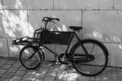 Vintage bicycle.  royalty free stock image
