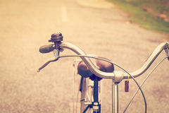Vintage bicycle and brake with bell Royalty Free Stock Images