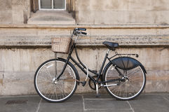 Vintage Bicycle at Cambridge, UK. Royalty Free Stock Photo