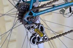 Vintage bicycle component CAMPAGNOLO: Rear derailleur Stock Image