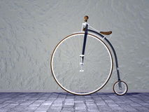 Vintage bicycle - 3D render Stock Image