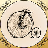 Vintage Bicycle with decoration frame Royalty Free Stock Image