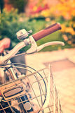 Vintage bicycle detail with bokeh Stock Photography