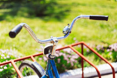 Vintage bicycle detail close up Royalty Free Stock Images