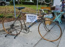 Vintage bicycle on display at L'Eroica, Italy Stock Photography