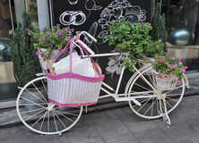 Vintage Bicycle with Flowers Royalty Free Stock Images