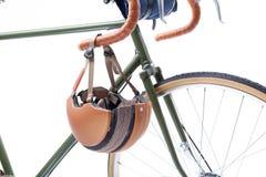 Vintage bicycle handlebar Royalty Free Stock Image