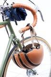 Vintage bicycle handlebar Royalty Free Stock Photo