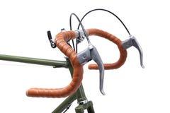 Vintage bicycle handlebar Royalty Free Stock Images