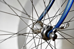 Vintage bicycle hub. Closeup with a vintage bicycle hub Stock Photo