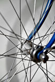 Vintage bicycle hub. Closeup with a vintage bicycle hub Stock Photos