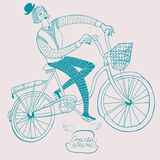 Vintage bicycle illustration Royalty Free Stock Image