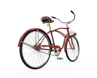 Vintage Bicycle Isolated. On white background. 3D render Stock Images