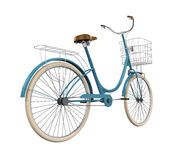 Vintage Bicycle Isolated. On white background. 3D render Royalty Free Stock Photo