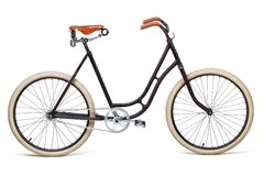 Vintage bicycle. Isolated on white. Including clipping path Stock Photos