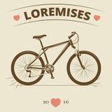 Vintage bicycle logo or print design Royalty Free Stock Image