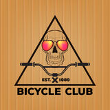 Vintage Bicycle Logos with skull Royalty Free Stock Image