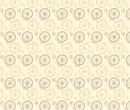 Vintage bicycle pattern Stock Image