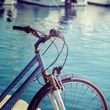Vintage bicycle by the sea in Alghero Stock Photo