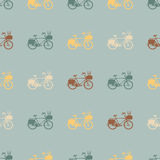 Vintage bicycle seamless pattern. Royalty Free Stock Image