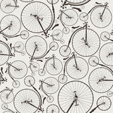 Vintage bicycle seamless. Wallpaper, eps8, no transparencies, ideal for prints Royalty Free Stock Photos