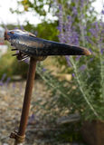 Vintage bicycle seat, rusted seat post and springs Stock Photography