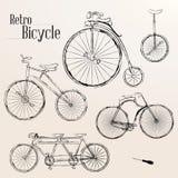 Vintage bicycle set stock illustration