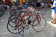 Vintage bicycle show Royalty Free Stock Photography